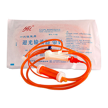 洪达 一次性使用避光输液器 带针P-P 塑钢针0.55mm (320支/箱)