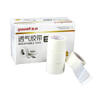 鱼跃yuwell 透气胶带 无纺布2.5×910cm (12卷/盒,60盒/箱)