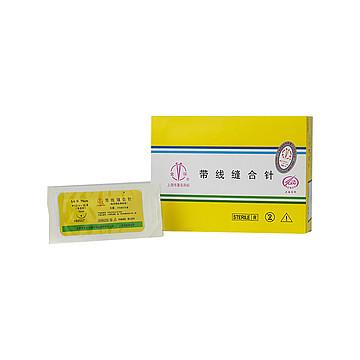 金环Jinhuan 带线缝合针6-0#  4×12 不可吸收 (12包/盒)