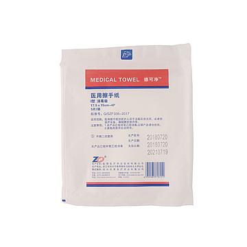 振德 医用擦手纸 Ⅰ型17.5×15cm-4p 消毒级(5片/袋 140袋/件)