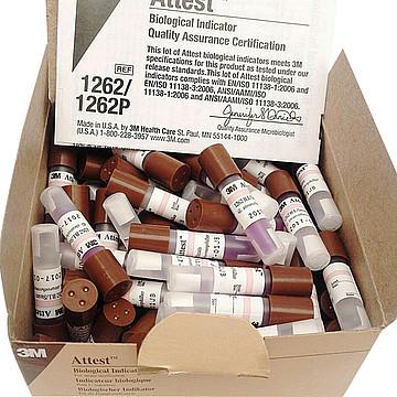 3M 生物指示剂 1262压力蒸汽灭菌 (100支/盒 4盒/箱)