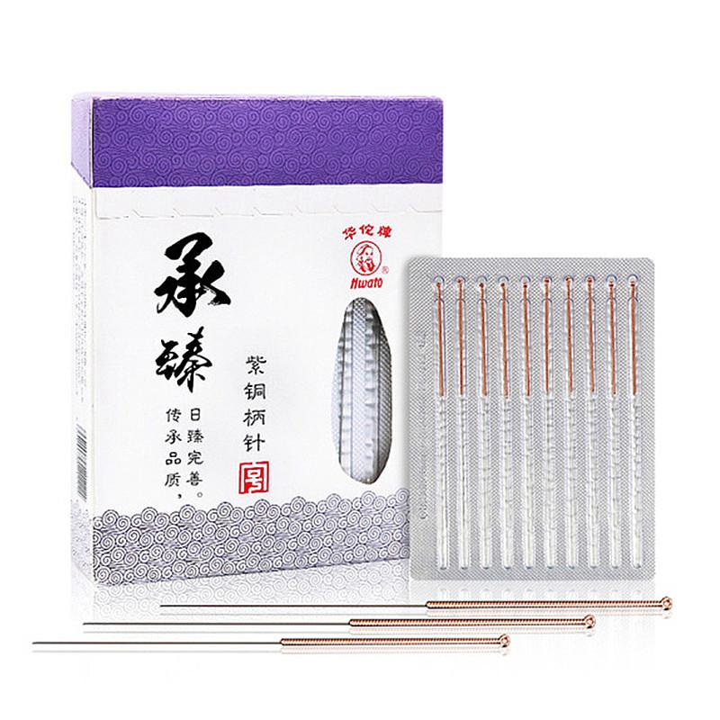 华佗Hwato 一次性使用无菌针灸针 0.3*60mm 透析纸铜柄 (100支/盒)