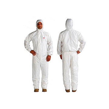 3M 连体防护服 白色带帽 L 4545(20件/箱)