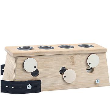 中研太和 艾灸盒 竹制四孔 25×9×9cm