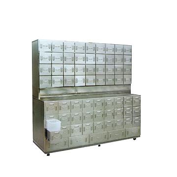 欣雨辰 全不锈钢中药柜(136味药)D14