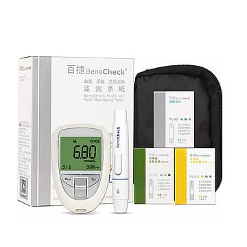 百捷 血糖、尿酸、总胆固醇监测系统BKM13-1(自动退片型套装)
