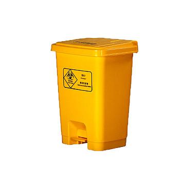 利鑫源 脚踏垃圾桶 医用黄色 30L(10个/箱)