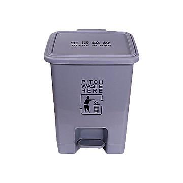 利鑫源 脚踏生活垃圾桶 灰色 15L(10个/箱)