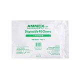 AMMEX爱马斯 一次性PE检查手套 大号(100只/包 50/箱)