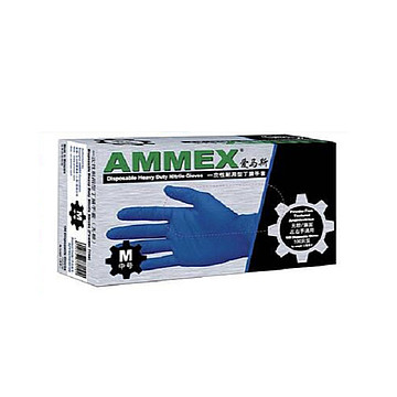 AMMEX爱马斯一次性丁腈检查手套(无粉 防滑型)(100只/盒 10盒/箱)