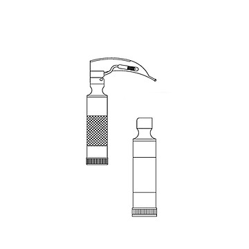 金钟 麻醉咽喉镜H33040  I型 (插口弯)