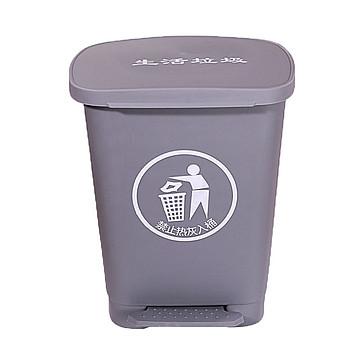 利鑫源 20L脚踏垃圾桶(生活 灰色),10个/箱