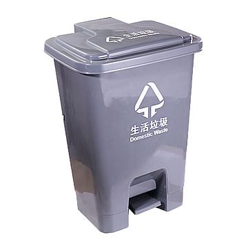 利鑫源 70L脚踏垃圾桶 灰色 (5个/箱)