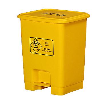 利鑫源 脚踏垃圾桶 医用黄色15L
