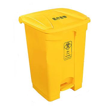 利鑫源 60L脚踏垃圾桶(黄色)