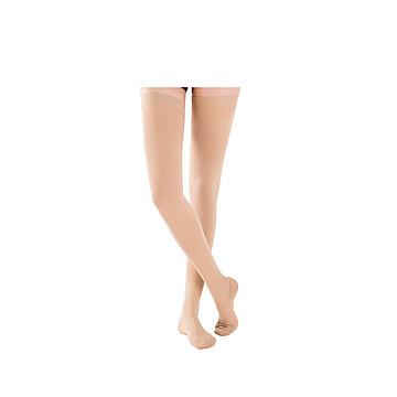 振德 治疗型静脉曲张袜 压力一级 长筒闭口 大号 肤色(12双/箱)