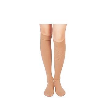 振德 治疗型静脉曲张袜 压力二级中压 短筒闭口 大号 褐色(12双/箱)