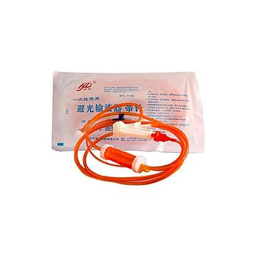 洪达HD 一次性使用避光输液器 P-P塑钢针7# 全塑包装(40套/包,8包/箱)