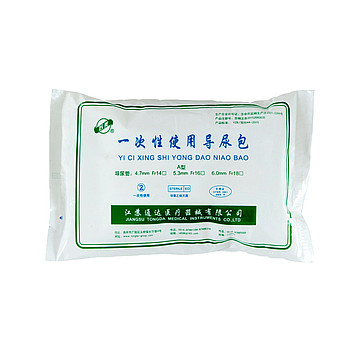 苏美 一次性使用导尿包 硅胶双腔 Fr14  40套/箱