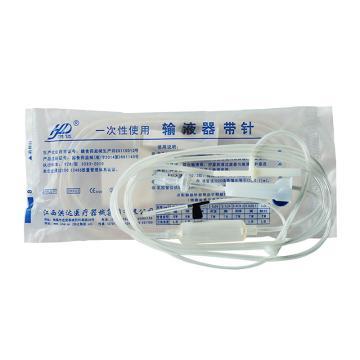 洪达HD 一次性输液器带针B1-1塑针0.6mm全塑 (25套/包 20包/件)