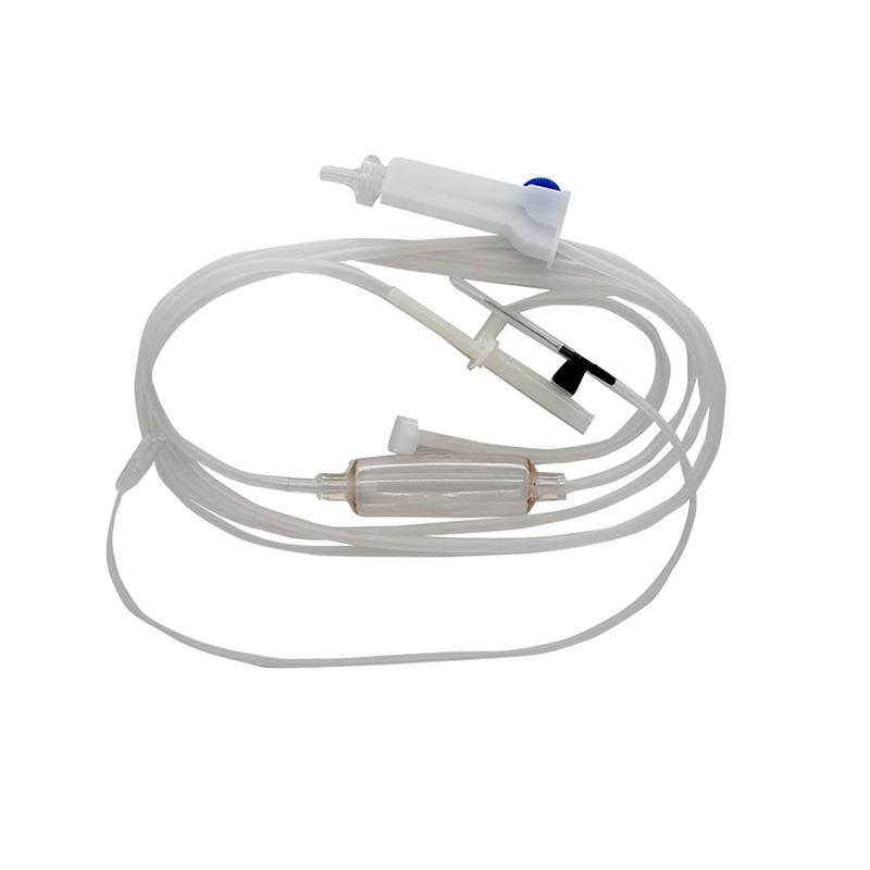 洪达(HD) 一次性输液器 塑针 B1-1 0.55mm 全塑 包装 (25套)