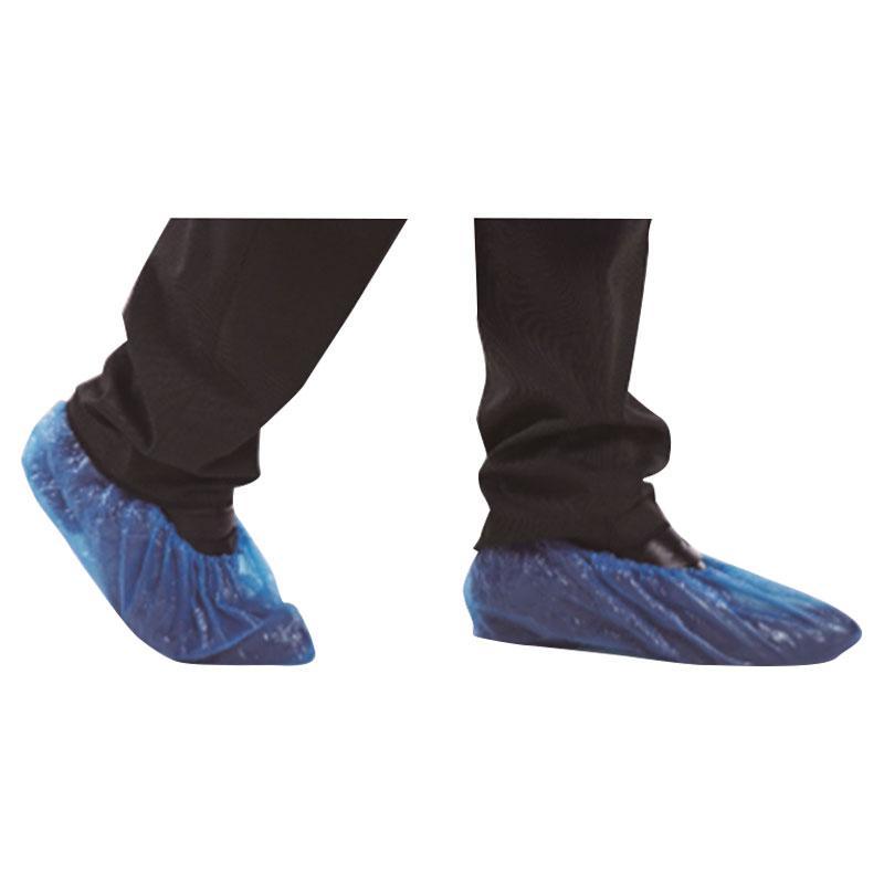 ZD振德 一次性使用鞋套 36cm*15cm 浅兰 PE  10只/扎 (100只/袋)