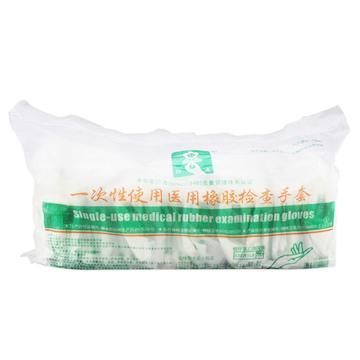 恒生 一次性使用橡胶检查手套 灭菌型 L 有粉 (1双/袋 1000双/箱)
