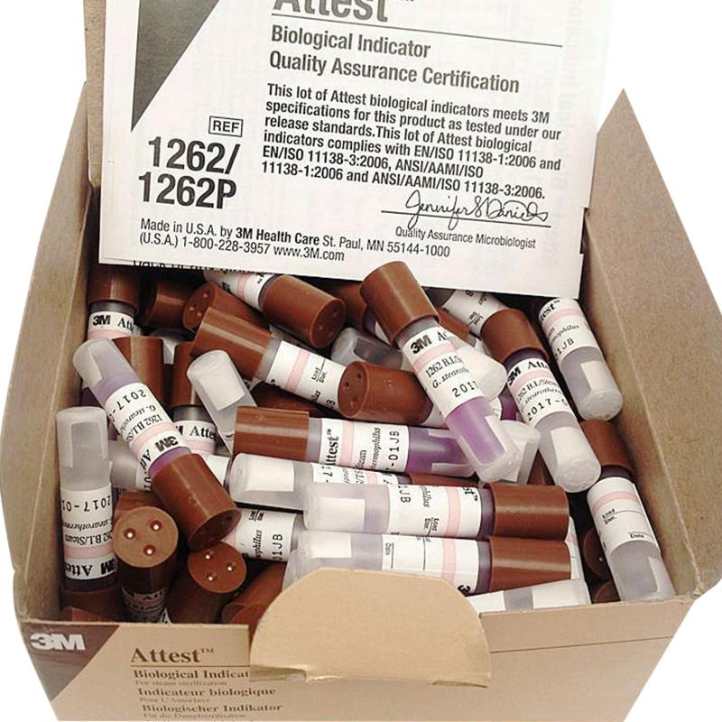 3M 高压灭菌生物指示剂 常规 (100支/盒) 1262