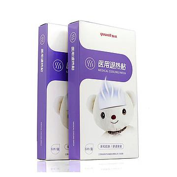 鱼跃yuwell 医用退热贴  5×12cm (6片/盒,80盒/箱)