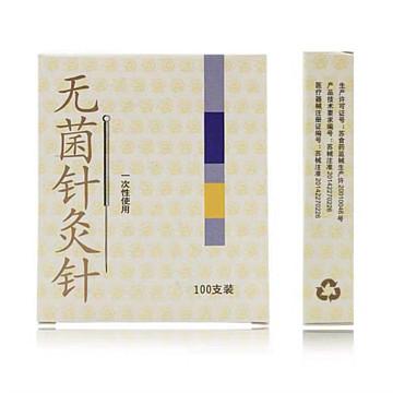 云龙(CLOUD&DRAGON) 一次性使用无菌针灸针(铝箔片单独袋装) 0.25*25mm 盒装(100支)